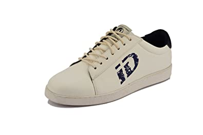 a2233dd43aa Amazon.com   ID Men's Casual Fashion White Sneakers Vegan Leather ...