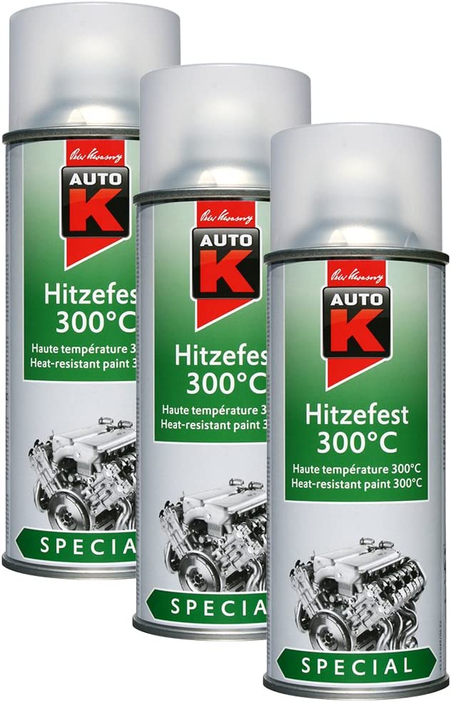 3x Kwasny 233 048 Auto K Special Hitzefest 300 C Klarlack 400ml Auto