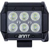 ANNT 18W LED ワークライト < CREE 製 > 広角タイプ 1800lm SUV トラック 船舶 作業用 ランプ 12V・24V車兼用 作業灯 【1年間 保証期間 付】