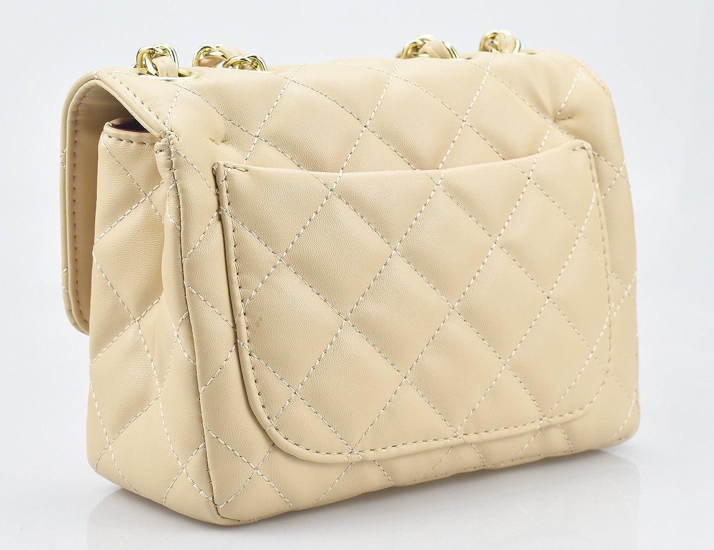 Amazon.com  Covelin Women s Leather Fashion Handbag Quilting Envelope Cross  Body Shoulder Bag Apricot  Computers   Accessories db22f4f7da125