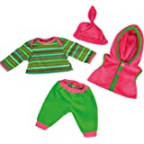 Bayer Design 84620AA Trousers/Shirt/Vest/Cap Deluxe Dress for Dolls, 46 cm