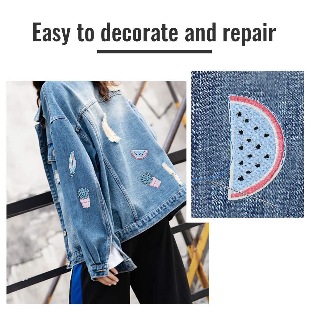 23 PCS Vestiti Patch Adesivi per Jeans Maglietta Vestiti Decorazione Riparazione Fai da Te Irich Toppe Termoadesive o da Cucire