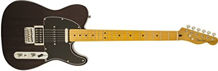 Fender Modern Player Tele Plus Electric Guitar, Charcoal Transparent, Maple Fretboard