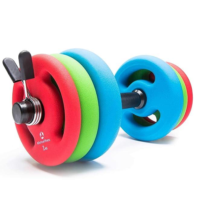 2 pesas de hierro fundido 100% de 1 kg 2 kg 3 kg 4 kg 5 kg / cada ...