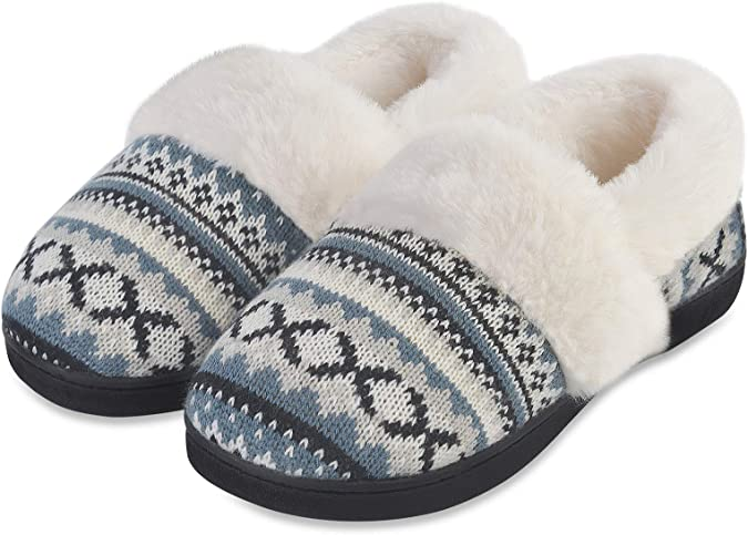 7-8 Super Soft Suede Home Slippers with Faux Fur Size L Ivory Christmas Gift