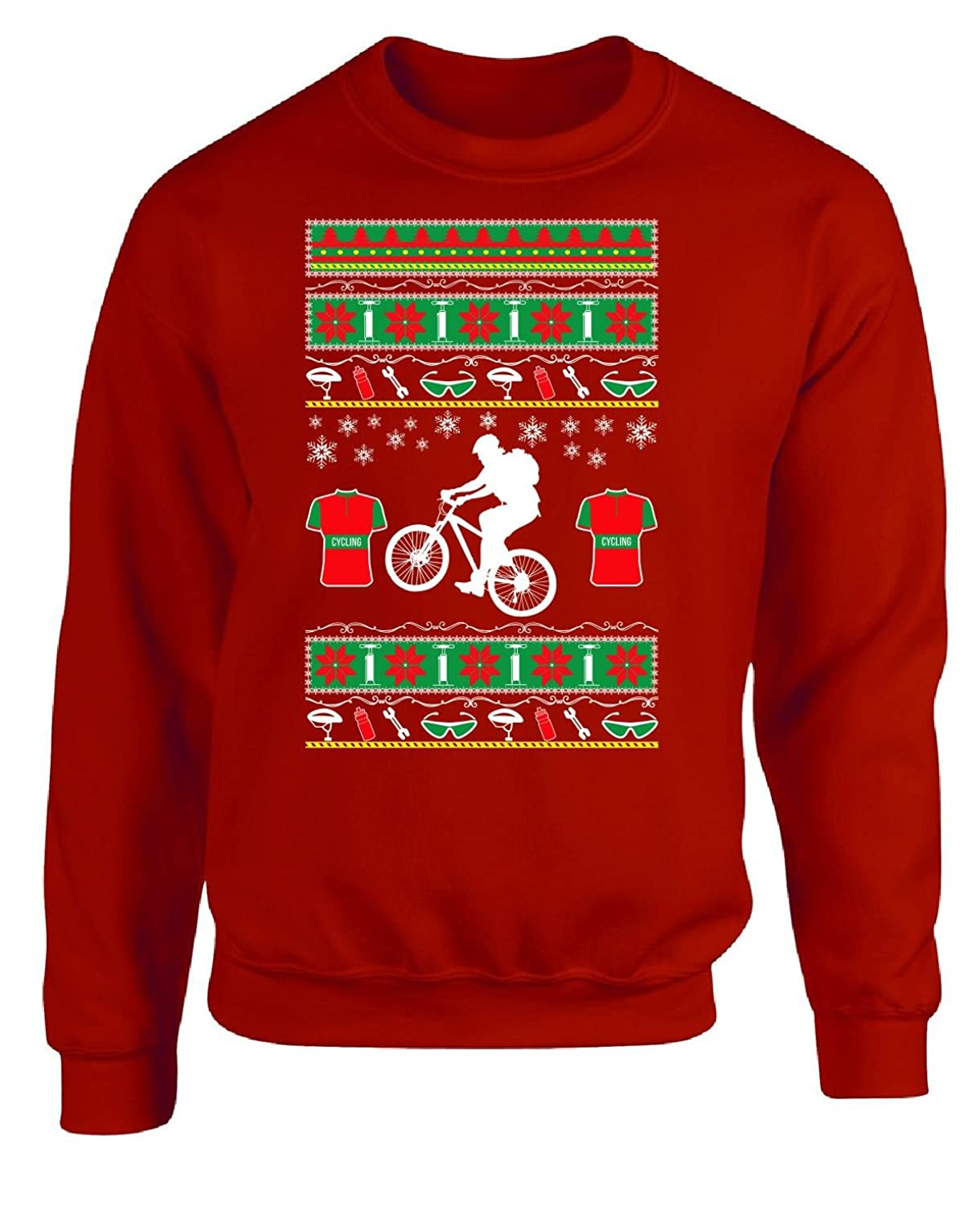 good Gifts For Cyclists Ugly Christmas Cycling Sweater Style - Adult ...