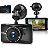 Dash Cam 1080P Full HD 3 Inch Dashboard Camera Car Recorder with 32GB Card 170°Wide Angle Dashcam Driving Loop Recording G-Sensor