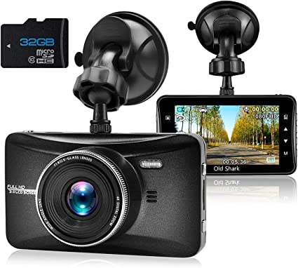 Amazon.com: OldShark Dash Cam con la tarjeta de 32GB, 3 ...