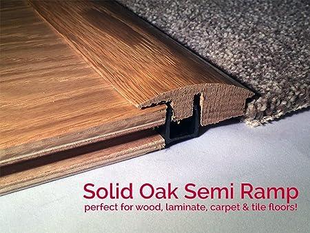 Solid Unfinished Oak Height Adjustable Semi Ramp Flooring Profile