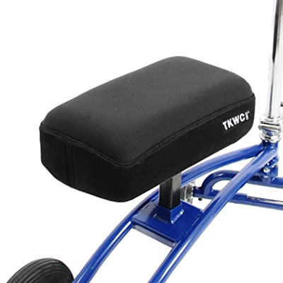 Knee Scooter Memory Foam by TKWC INC - Two Inch Thick Memory Foam Knee Pad and Cover - Fits Most Knee Walker Models: Health & Personal Care