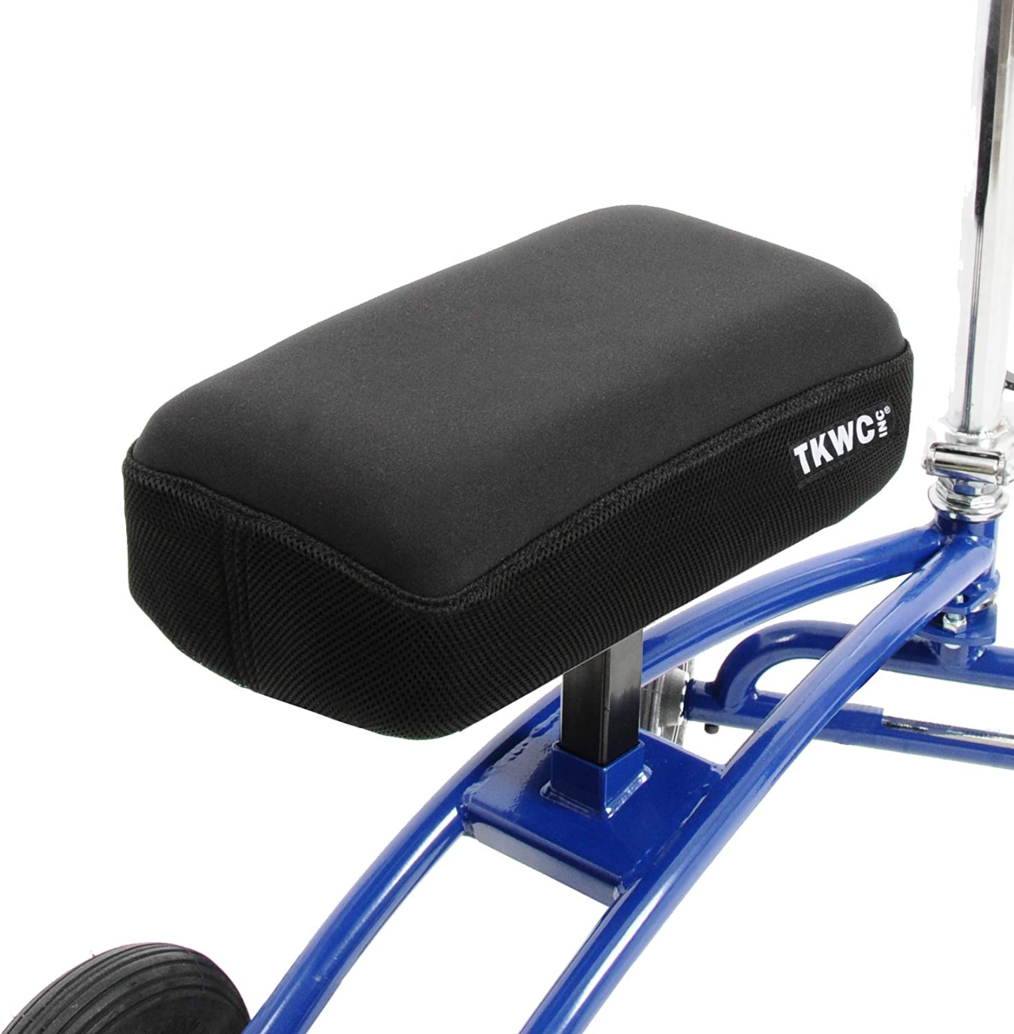 Knee Scooter Memory Foam by TKWC INC - Two Inch Thick Memory Foam Knee Pad and Cover - Fits Most Knee Walker Models