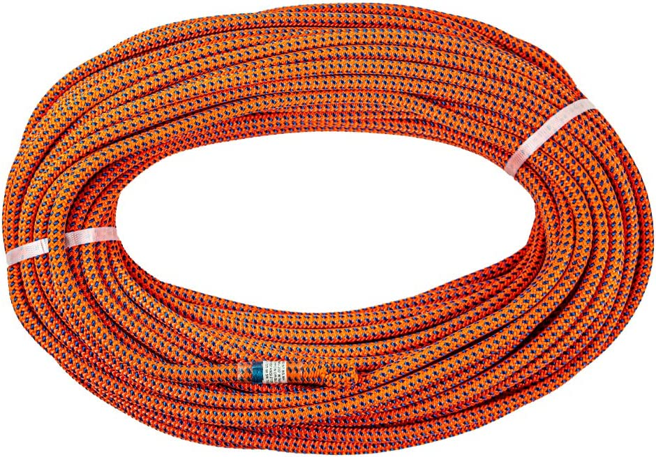 Teufelberger Tachyon Climbing Rope 24-Strand Polyester Rope for Tree Care Operations 11.5mm x 150ft with EyeSplice, OrangeBlue
