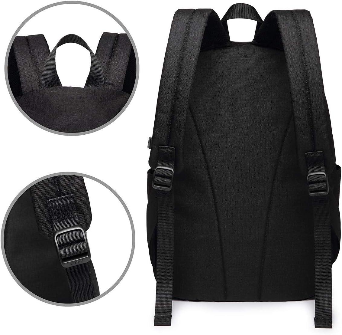 Bird Seamless Mode Laptop Backpack 17 Inch Business Travel Backpacks for Men Women Adjustable Shoulder Strap with USB Charging Port Black Mens and Womens for School