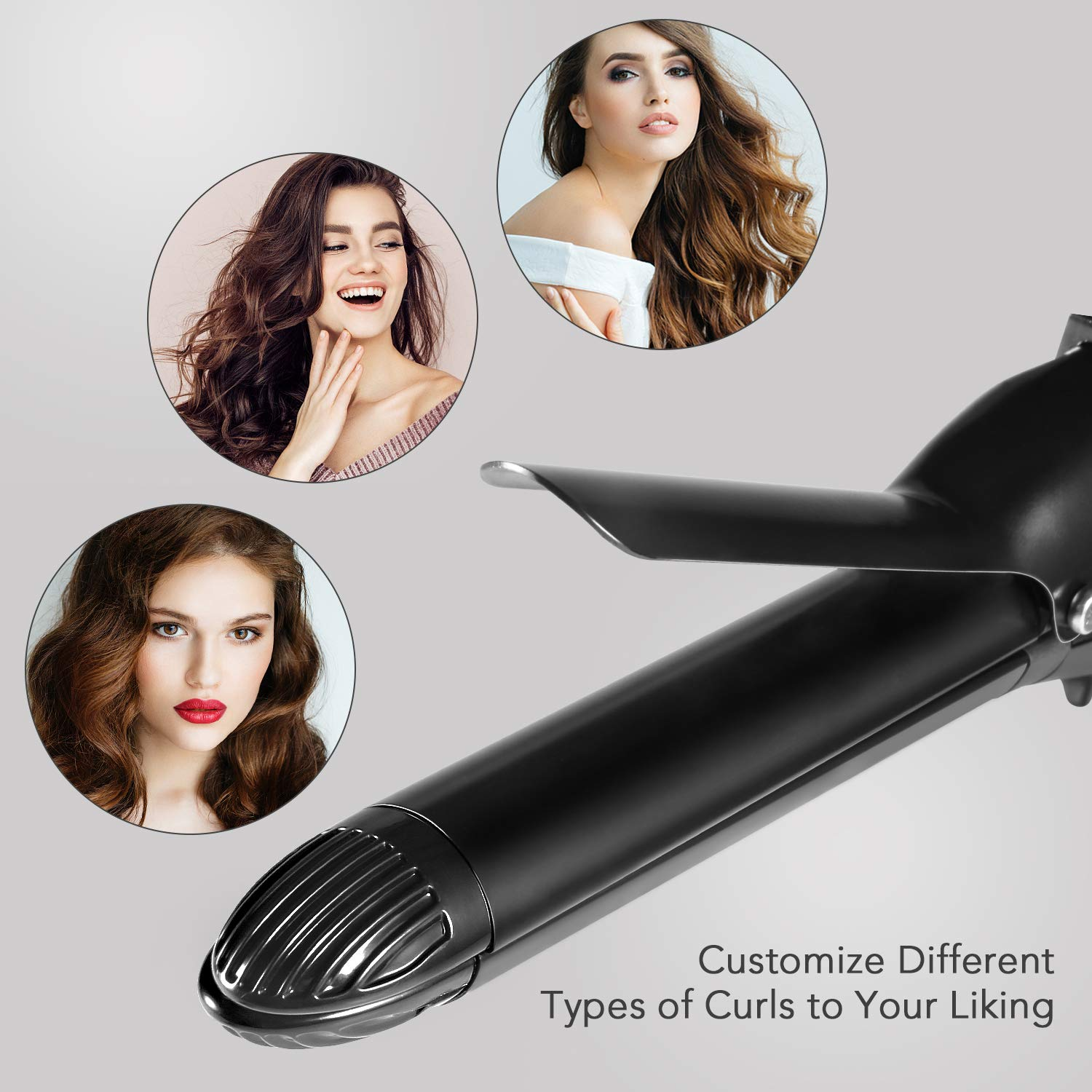 ... Hair Straightener 2 in 1 Curling Iron Styling Wand Hair Curler with Adjustable Temperature Ceramic Coating Fast Heating Technology MARNUR: Beauty