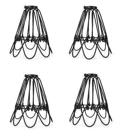 Industrial metal bird cage lamp guard string light shade open close industrial metal bird cage lamp guard string light shade open close flower ceiling hanging pendant island greentooth Gallery