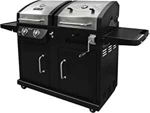 Dyna-Glo Gas Charcoal Grill Smoker Grill Combo