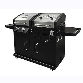 Dyna-Glo dgb730snb-d (y de gas de acero inoxidable barbacoa de carbón