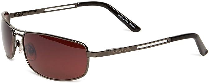 e558b29c1b Eyelevel Grand Prix 2 Rectangle Men s Sunglasses Shiny Gun Metal One Size