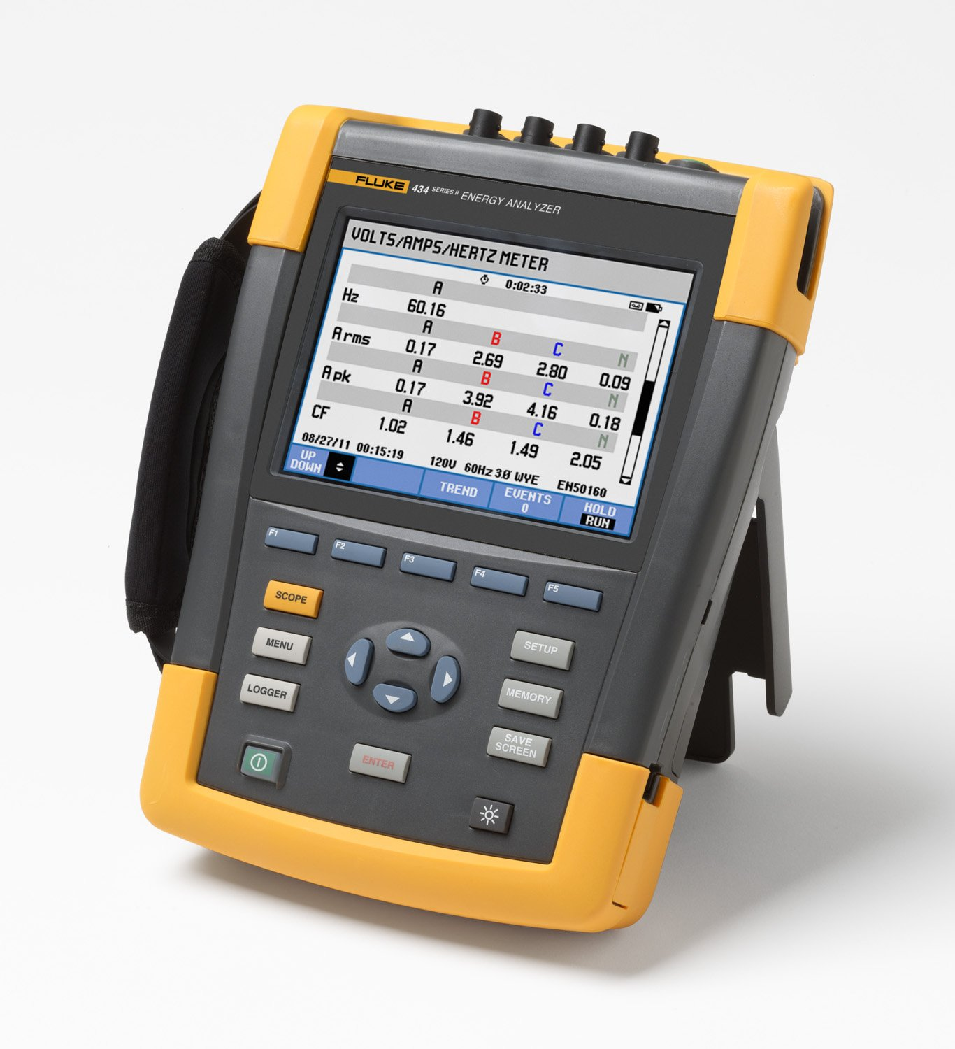 Fluke 434-II/BASIC Energy Analyzer, +/- 0.5% Accuracy, 0.1V Resolution: Industrial Power Meters: Amazon.com: Home Improvement