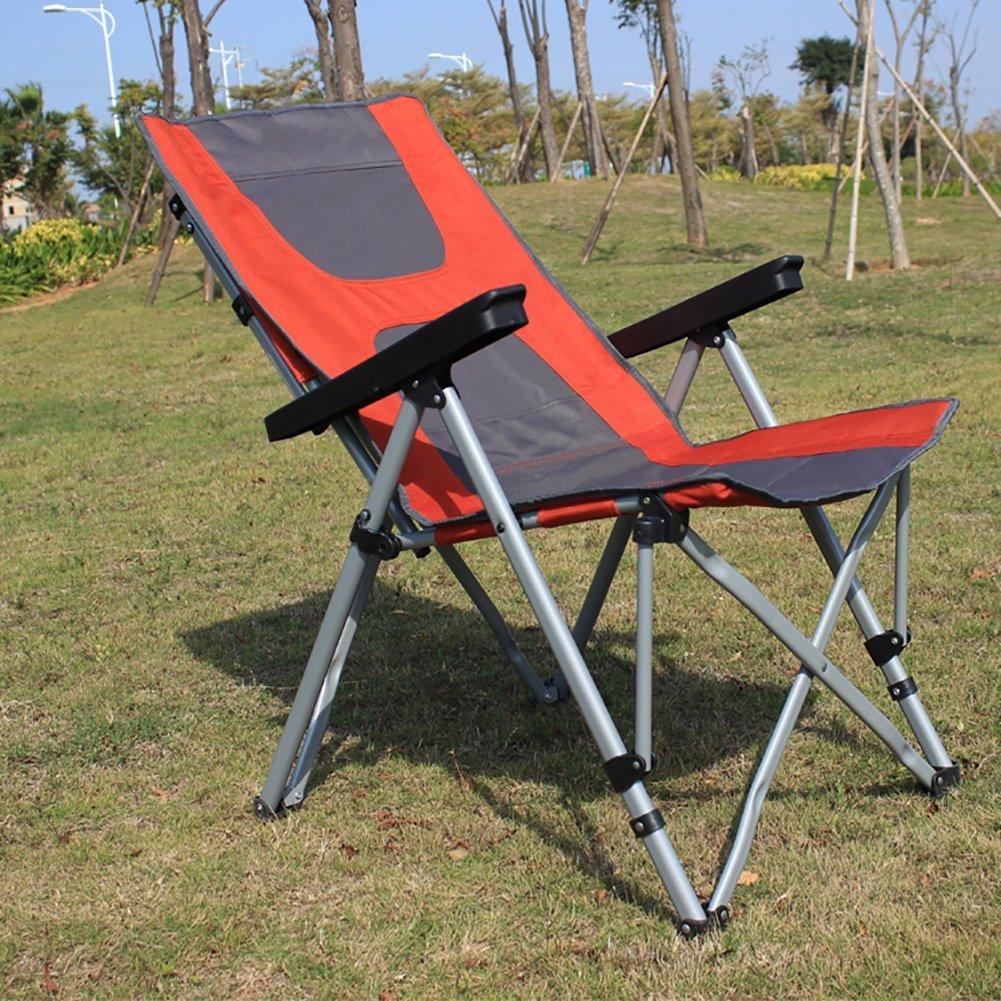 Camping-Stühle WSSF- Doppelt verwendbare Recliners justierbarer faltender kampierender Stuhl-Mittagspause-Krankenhaus begleiten Lehnsessel im Freien Garten-Strand-Fischen-Stuhl, 56  73  102cm