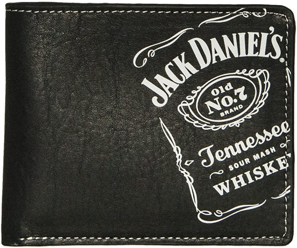 NEW OFFICIAL JACK DANIELS OLD NO.7 TENNESSEE WHISKY BLACK BI-FOLD WALLET