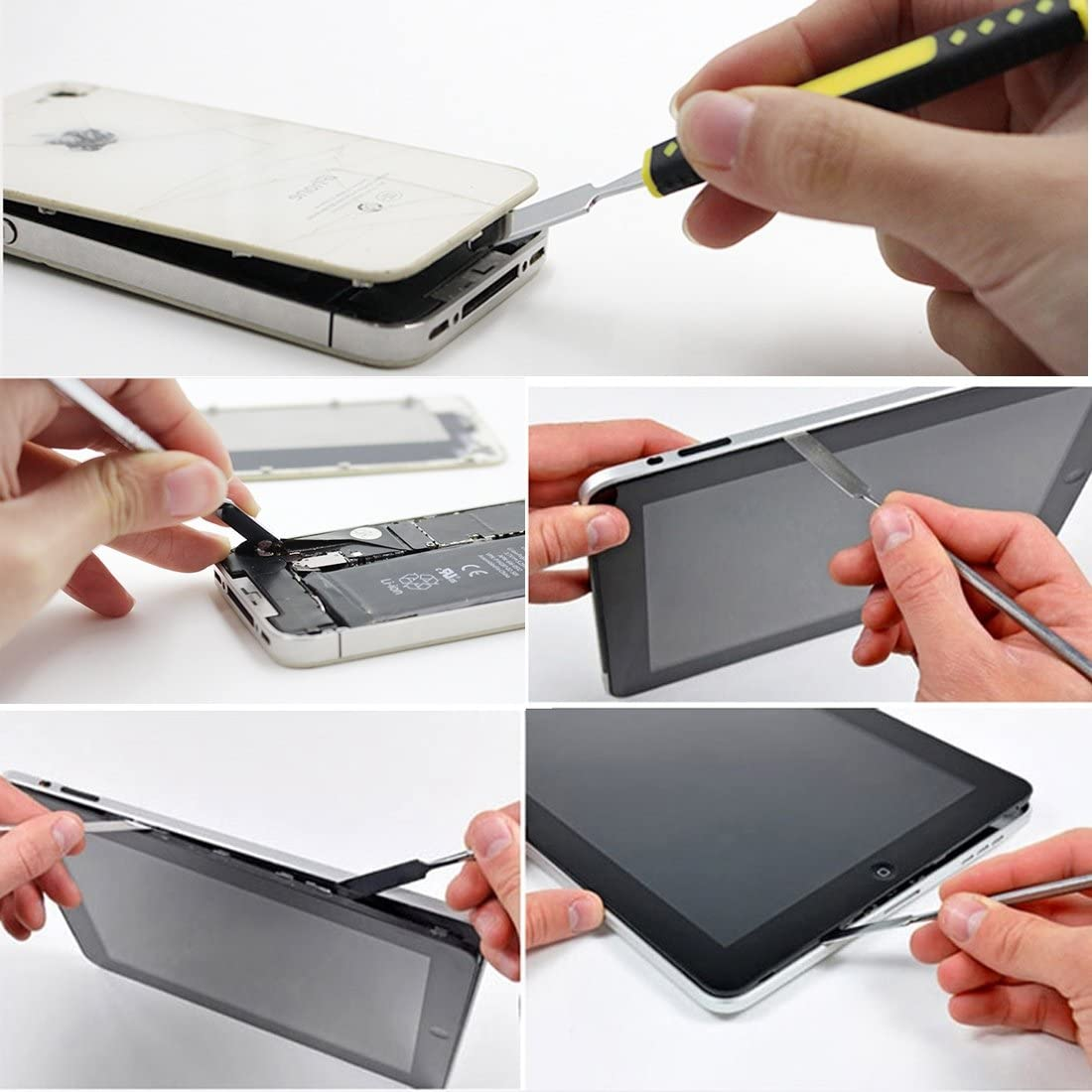 BAIDONGWEIREPA Professional Mobile Phone//Tablet PC Metal Disassembly Rods Repairing Tool Color : Silver Silver Length: 17.5cm