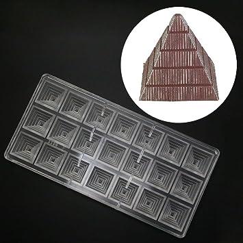 grainrain Chocolate Candy moldes de policarbonato molde de repostería para horno bandeja para herramientas 3d pirámide