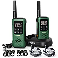 GOCOM G9 22 Channels FRS Two Way Radios, Long Range Adults Walkie Talkies, IP67 Waterproof, VOX Hands-Free, Flashlight…
