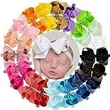 "20 Pcs 6"" Hair Bow Baby Girls Toddlers Headbands Head Wear Hair Band Accessory"
