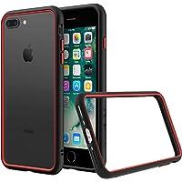 RhinoShield Coque pour iPhone 7 Plus / 8 Plus [CrashGuard NX] Protection Fine Personnalisable - Absorption des Chocs [sans BPA] + [Programme de Remplacement Gratuit] - Combo Noir/Rouge