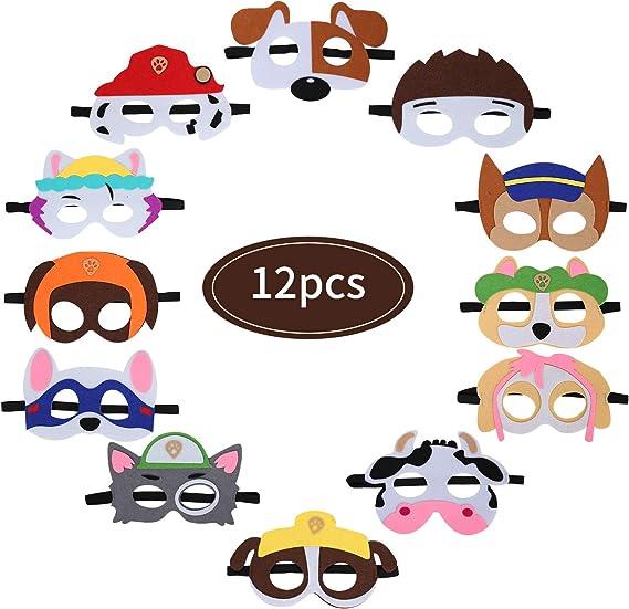 Fieltro Máscaras, 12 Piezas Patrulla Canina Máscaras Máscaras de ...