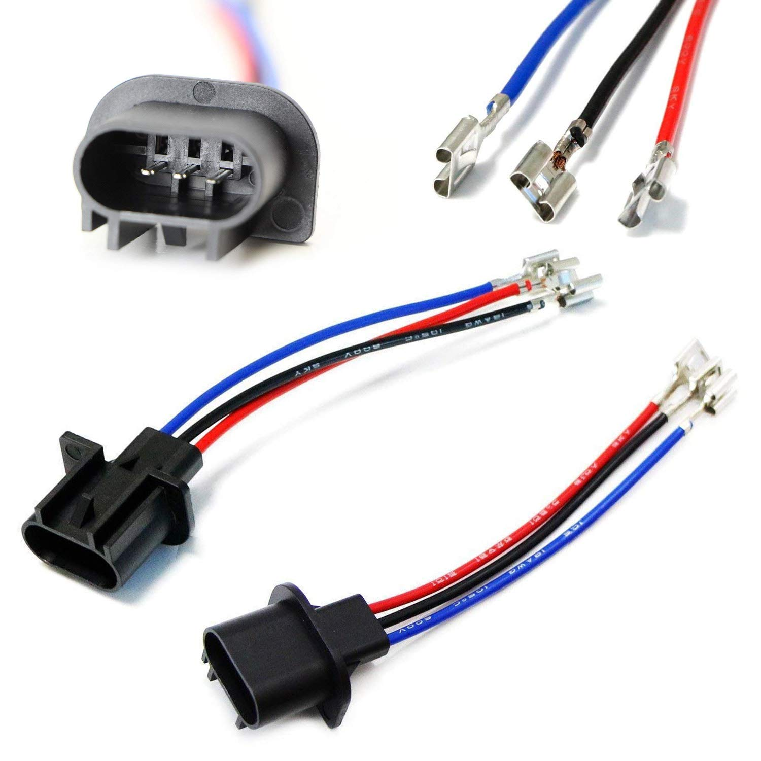 Amazon.com: iJDMTOY (2) H13/9008 to 9007/9004 or 9003/H4 Polarity  Adjustable Conversion Adapter Wiring Kit For Headlight Conversion Retrofit:  Automotive