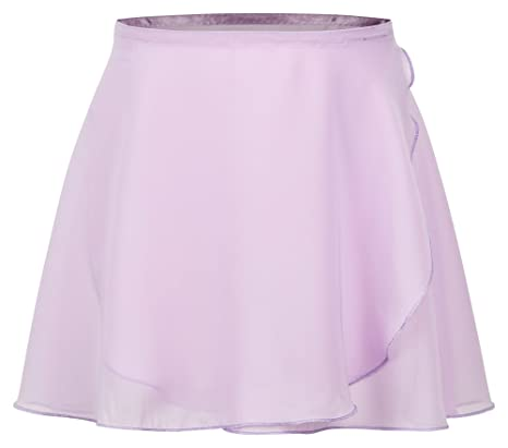 tanzmuster Kinder Ballett Wickelrock Emma aus Chiffon - lockerluftiger Ballettrock zum Binden in den Farben rosa, weiß, schwa