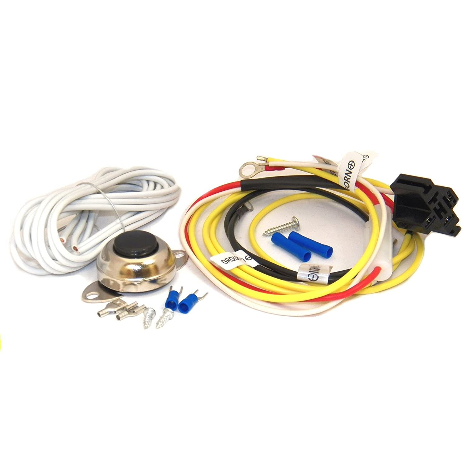 Horn Installation Wire Kit with Fuse and Button Switch