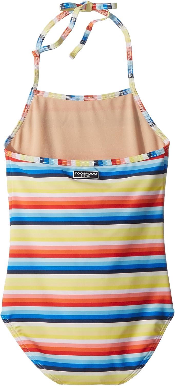 Infant//Toddler//Little Kids//Big Kids Toobydoo Womens Retro Rainbow Stripe One-Piece Swimsuit