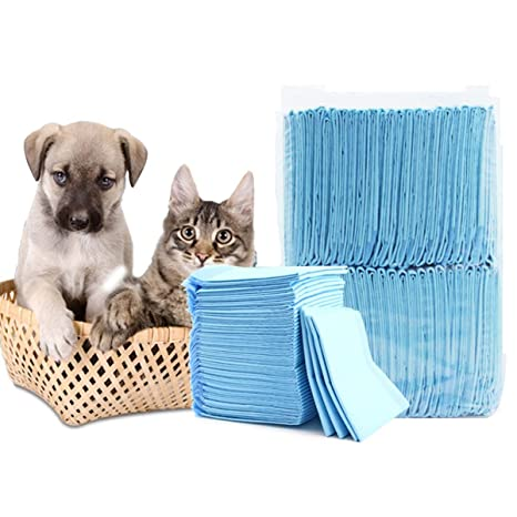 shanzhizui Pañales para Perros Engrosamiento de Perro 100 Comprimidos Cojín de Conejo para Gatos y Perros