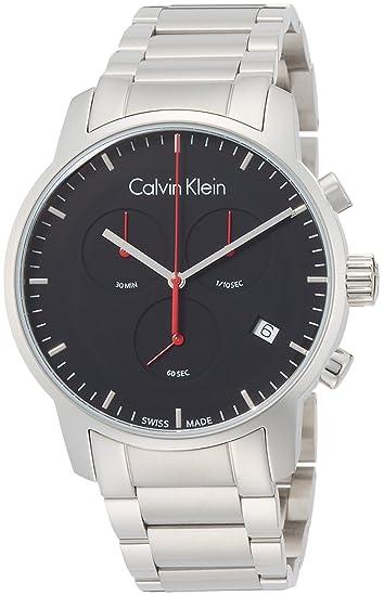 Calvin Klein Reloj Cronógrafo para Hombre de Cuarzo con Correa en Acero Inoxidable K2G27141: Amazon.es: Relojes