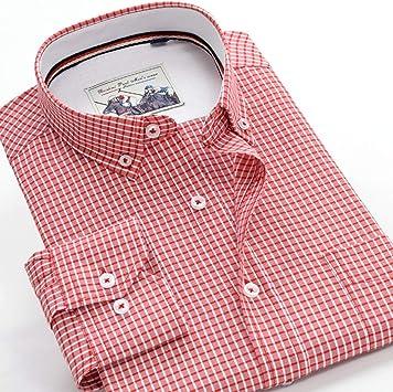 MDLJY Camisas Otoño Nueva Calidad Camisa de Manga Larga Casual de Negocios de Hombres a Cuadros Finos Camisa Suelta de Gran tamaño 3XL 4XL 5XL 6XL 7XL 9XL 10Xl: Amazon.es: Deportes y