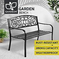 Gardeon Outdoor Garden Bench Seats Metal Rest Chairs