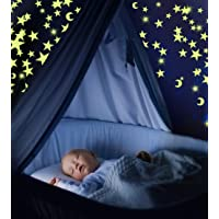Glow in The Dark Stars & Moon Pack of 300 | Fluorescent Ceiling Stars for Kids |...