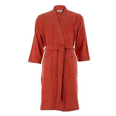 c34b301121 Cottonna 100% Turkish Cotton Bathrobe - Kimono Style - Knee Length - Terry  Cloth Robe