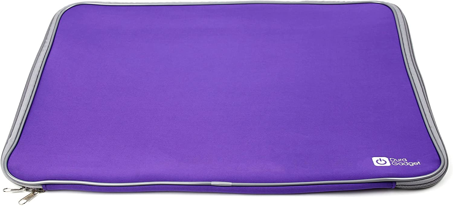 DURAGADGET Purple Soft Neoprene Case w/Zips - Compatible with Acer Aspire Ethos 18.4-Inch Laptop