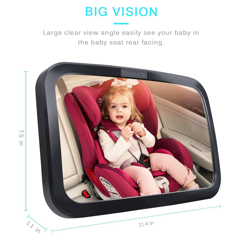 Shynerk Baby Car Mirror, Safety Car Seat Mirror for Rear ...