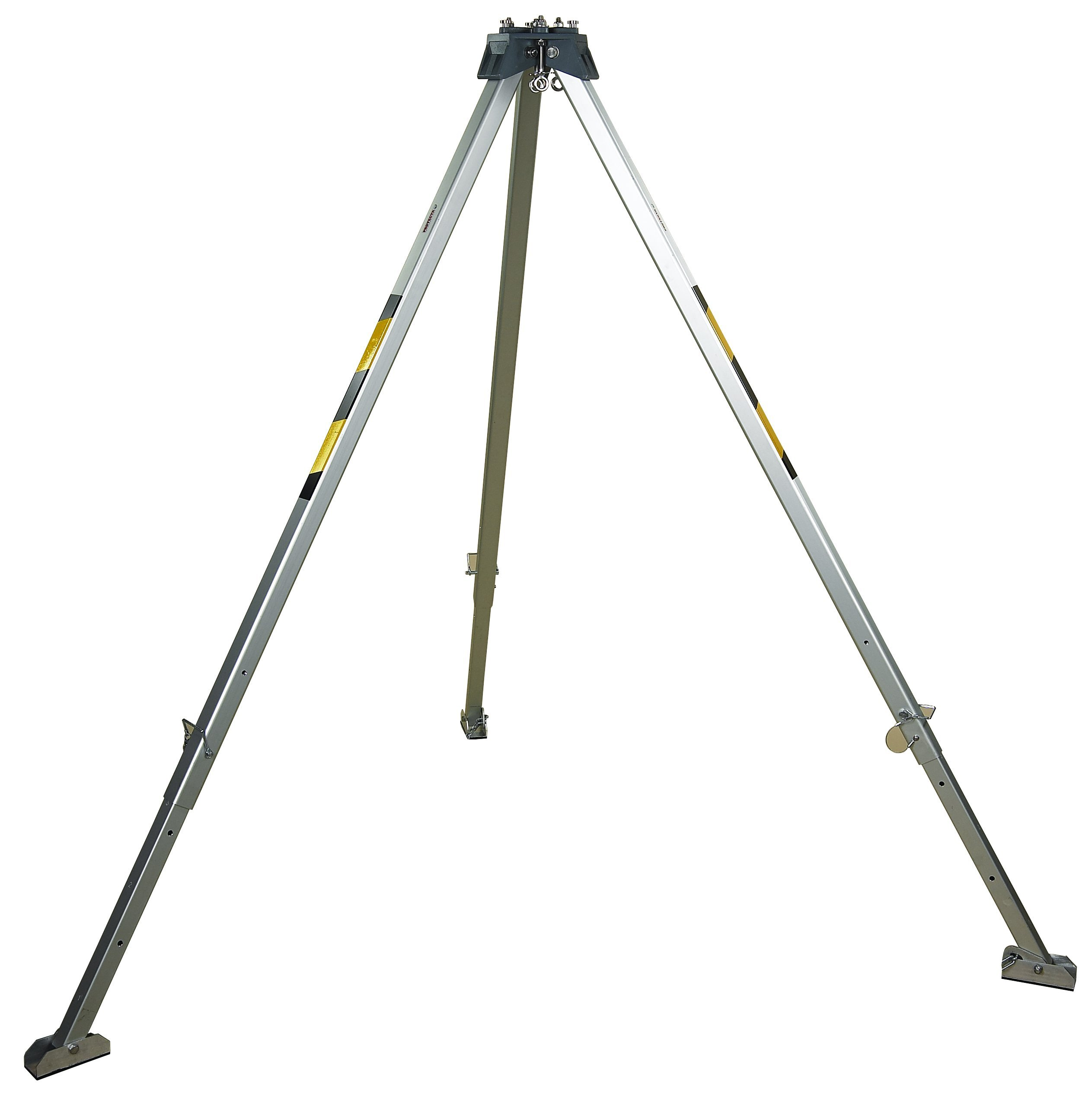 3M Protecta PRO AK105A Confined Space Aluminum Tripod, 8' with Adjustable Legs, Safety Chain, and Skid-Proof Feet, Silver by 3M Fall Protection Business (Image #1)