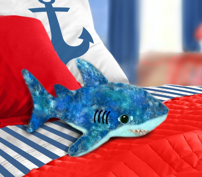 First /& Main 7 Floppy Blue Under the Sea Shark Basic Plush Toys 7893