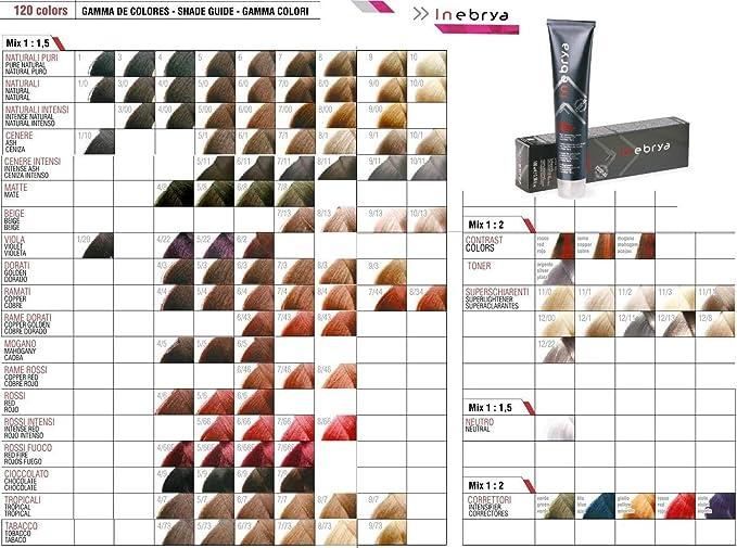 Inebrya Color 5/66 F Castaño Claro Rojo Fuego | Crema colorante para el cabello 100 ml