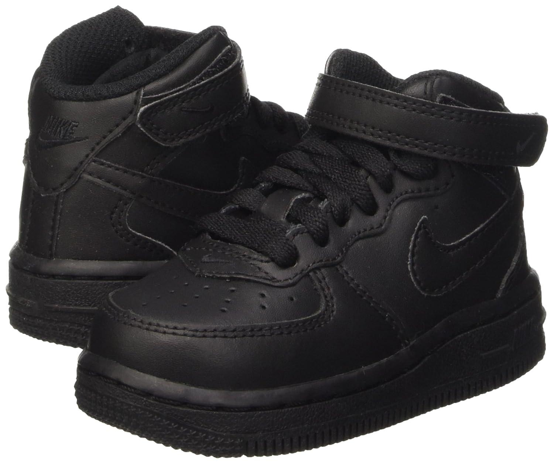 23 1//2 EU TD Zapatos de Primeros Pasos para Beb/és Negro Black Nike Force 1 Mid