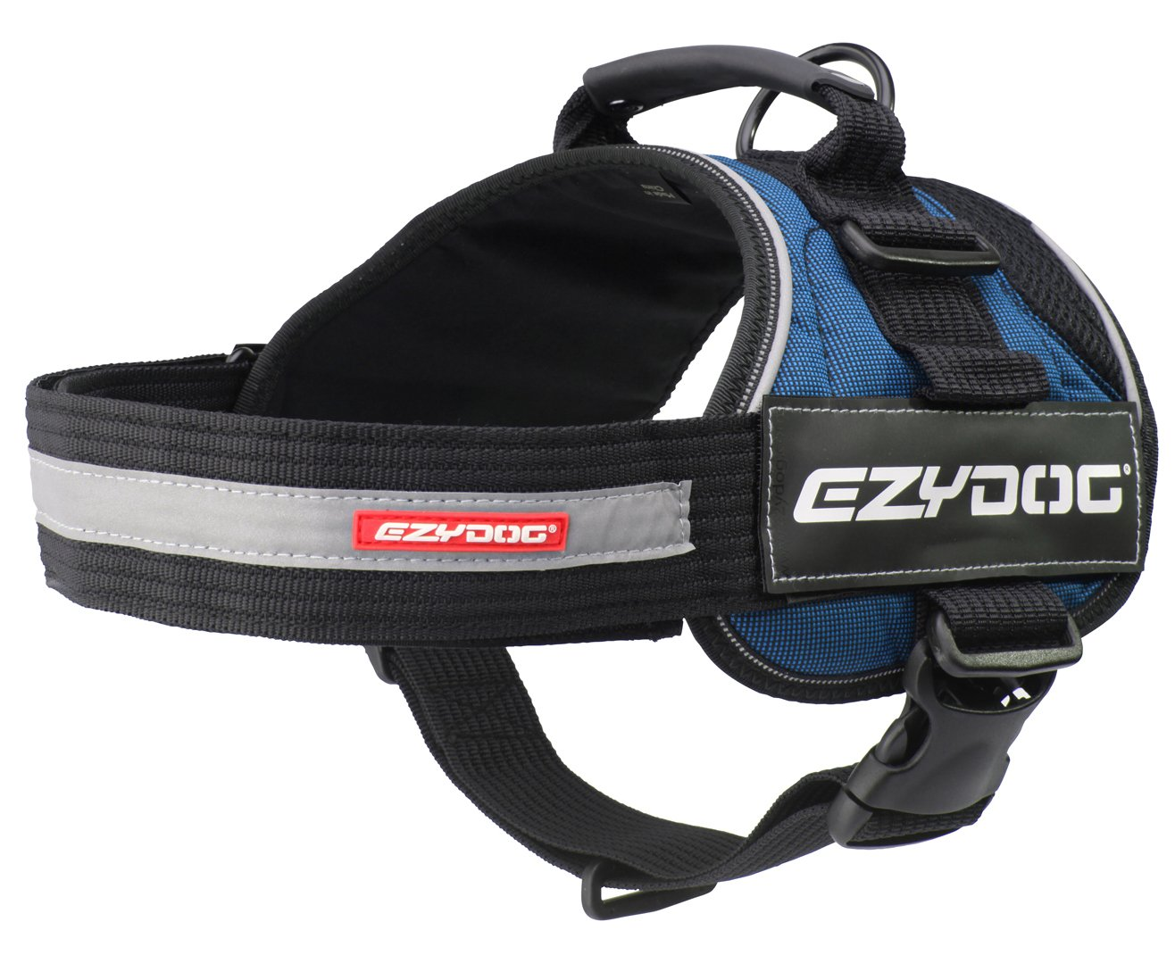 bluee Medium bluee Medium EzyDog Congreen Trail-Ready Outdoor Adjustable Dog Harness Perfect for Hiking, Walking, and Doubles as a Service Dog Vest Superior Comfort Design with a Durable Traffic Handle (Medium, bluee)