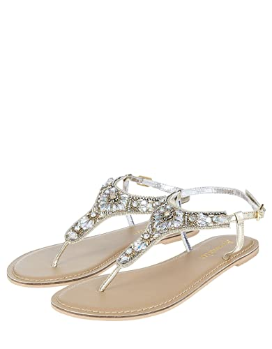 40f1354789fbd6 ... Accessorize Anna Embellished Sandals - Womens - US 10 Shoe get cheap  71270 3807c ...