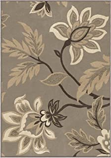product image for Orian Rugs 2009 Nuance Floral Lily Taupe Area Rug44; Gray - 5.25 x 7.5 ft.
